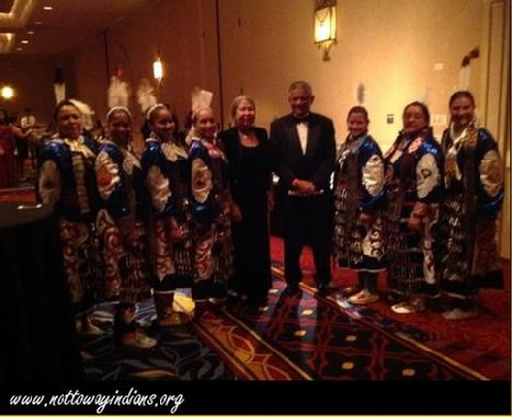 Chief Lynette Allston and Asst. Chief Archie Elliott share a moment in time with the Military Color Guard at the Inaugural Ball Ais. (All Military Ladies Honor Guard).