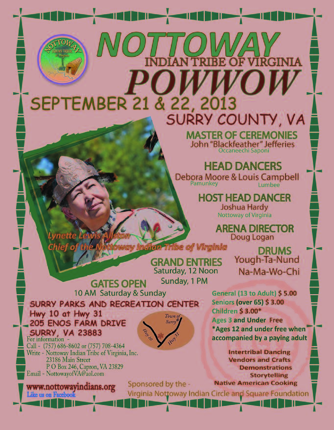 Nottoway Indian Tribe of Virginia, Inc. 2013 Pow Wow